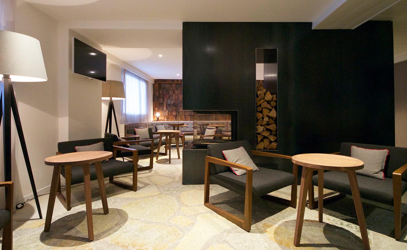 Innenarchitektur Bern umbau lobby seminarräume hotel valaisia crans montana atelier